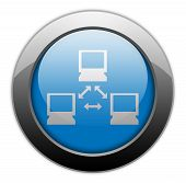 foto of vpn  - Image Graphic Icon Button Pictogram with Network symbol - JPG