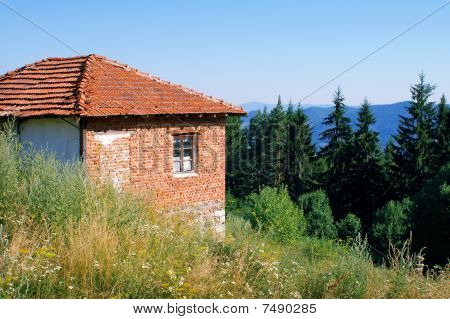 brick house in the rhodopes mountain