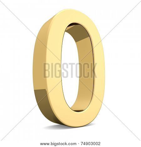 Collection of golden numbers on a white background