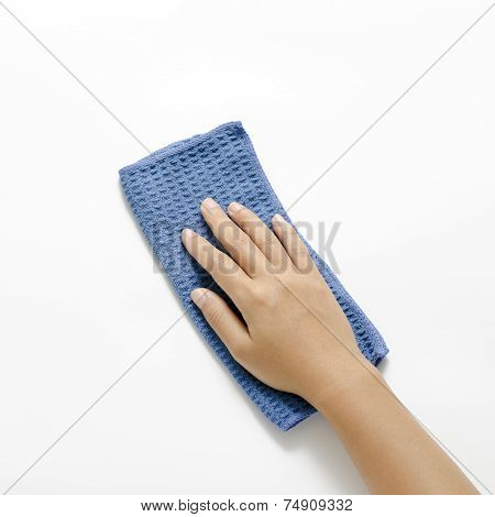 Woman Hand With Rag