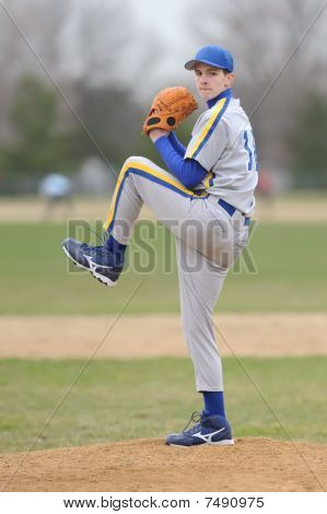 Teenage Baseball Pitcher