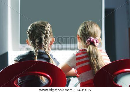 Girls Watching Television