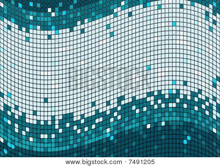 Mosaic blue and grey background