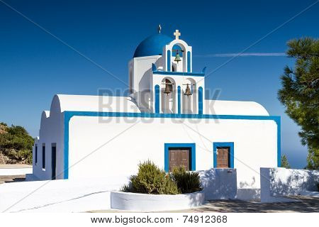 Cycladic Church At Santorini