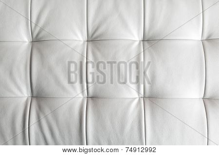 Leather Upholstery White
