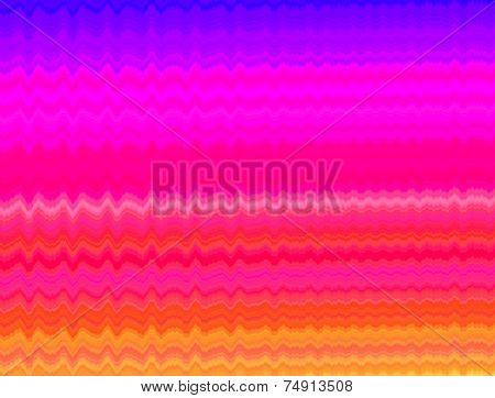 Waves On Rainbow Colors