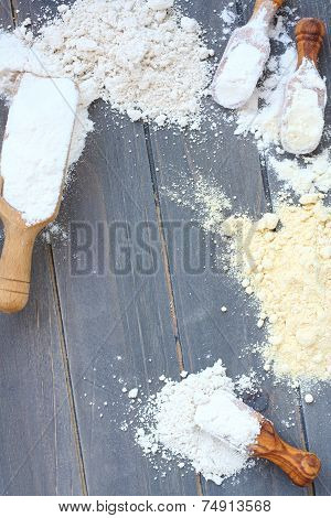 Baking Background With Gluten Free Flour