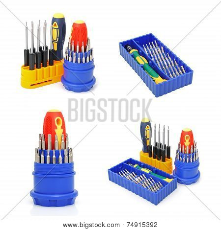 Set Of Screw-drivers For Special Works
