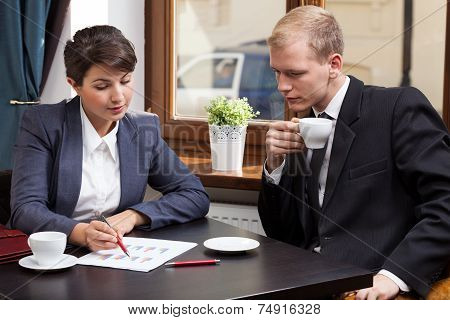 Business Meeting In Coffeehouse