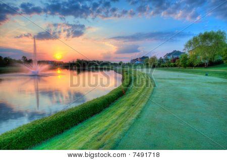 Sunrise on Golf Course
