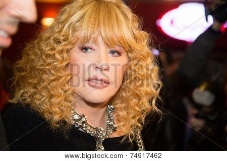 MOSCOW - OCTOBER, 7: Singer Alla Pugacheva. Premiere of the movie Solnechny Udar, October,7 , 2014 at Octyabr Cinema in Moscow, Russia