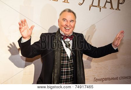 MOSCOW - OCTOBER, 7: Slava Zaicev. Premiere of the movie Solnechny Udar, October,7 , 2014 at Octyabr Cinema in Moscow, Russia