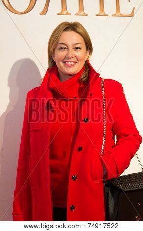 MOSCOW - OCTOBER,7 : Arina Sharapova. Premiere of the movie Solnechny Udar, October, 7, 2014 at Octyabr Cinema in Moscow, Russia