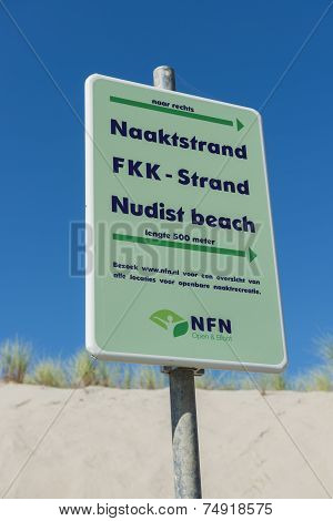 Sign Nudist Beach