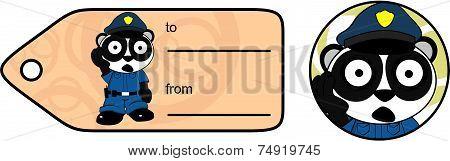 panda bear cop cartoon giftcard