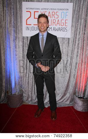 LOS ANGELES - OCT 28:  Barrett Foa at the 25th Courage In Journalism Awards at the Beverly Hilton Hotel on October 28, 2014 in Beverly Hills, CA