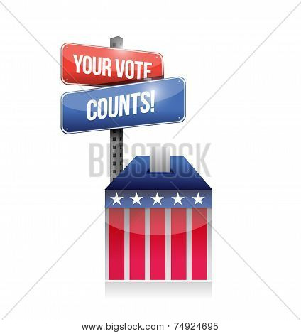 Your Vote Counts Ballot Illustration Design