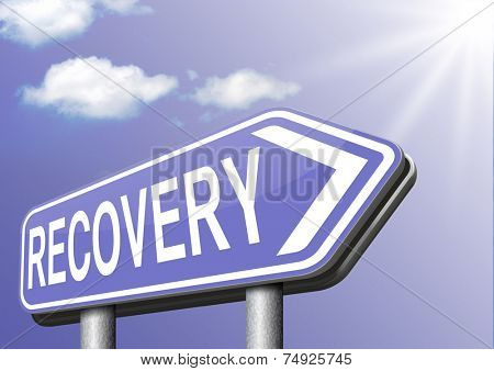 Recovery of lost data or from crisis and recession road to full economic recovery