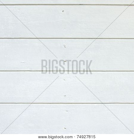 White Wood Boards Panel