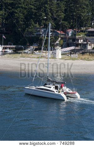 Sailing into Gig Harbor