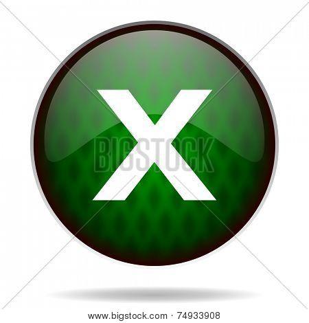 cancel green internet icon