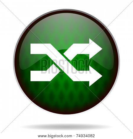 aleatory green internet icon