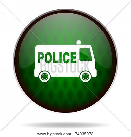 police green internet icon