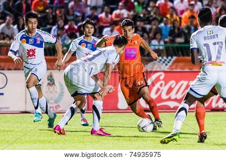 Sisaket Thailand-october 22: Gorka Unda Of Sisaket Fc. In Action During Thai Premier League Between