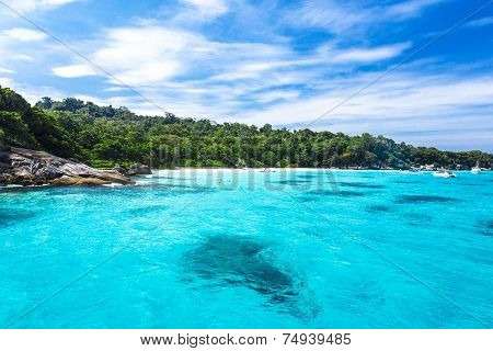 Beautiful Crystal Clear Sea At Tropical Island