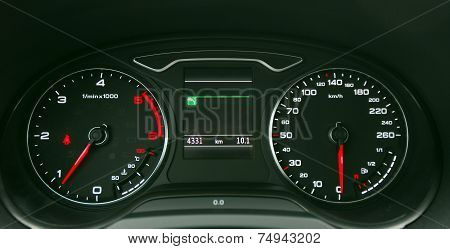 car illuminated dashboard