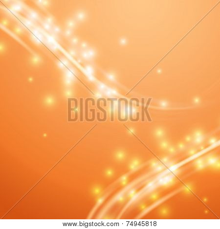 Bright Orange Swoosh Speed Glow Smooth Lines