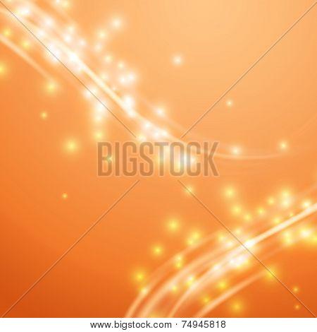 Bright Orange Swoosh Speed Glow Smooth Lines