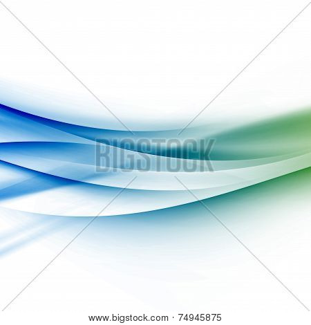 Swoosh Lines Divided Border Satin Background