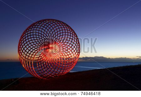 Lightpainting On Sisyphus At Dawn