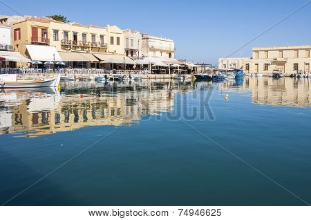 Old Venetian Harbor in Rethymno