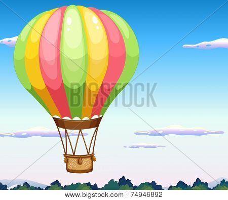 illustration of a balloon flying in the sky