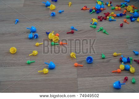 Plastic Mosaics On The Floor