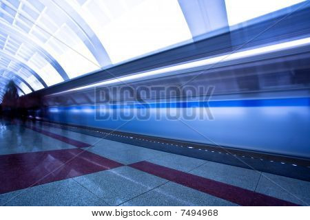 People Crowd On Platform