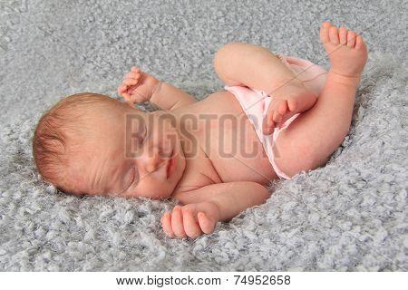 Ten day old newborn baby girl.