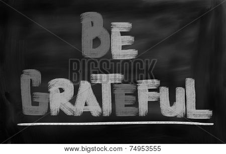 Be Grateful Concept