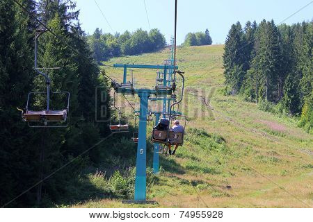 Chair lift in Carpathians