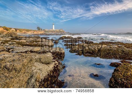 Pacific coast, California, Pigeon Point Lighthouse.