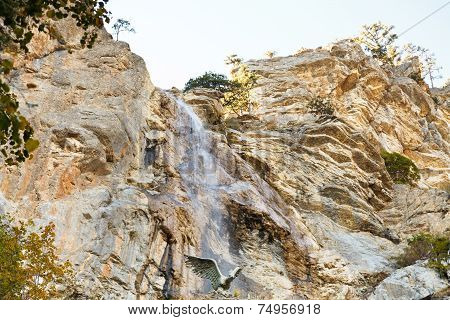 Waterfall Uchan-su Near Yalta In South Crimea