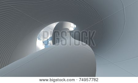 Carved Grey Structure