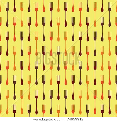 Seamless Background Pattern With Forks