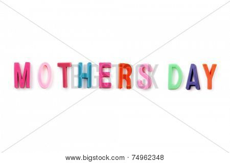 Mother's day colored texton white background
