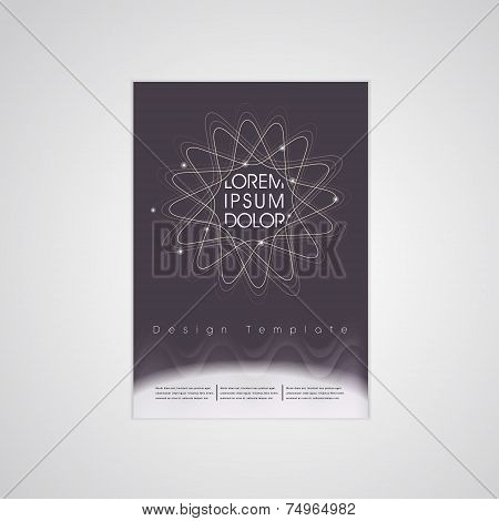 Elegant Flower Shape Background Poster Template
