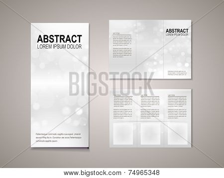 Sparkling Background Tri Fold Brochure Template