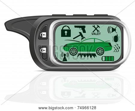 Remote Car Alarm Vector Illustration