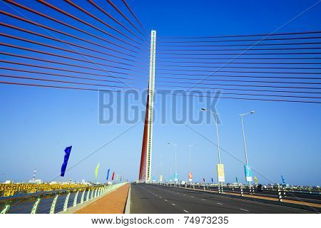 Tran Thi Ly bridge in Da nang, Vietnam